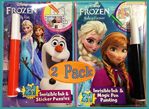 Disney Frozen Sisters Forever Chilly Fun Invisible Ink Coloring Books Set Of 2