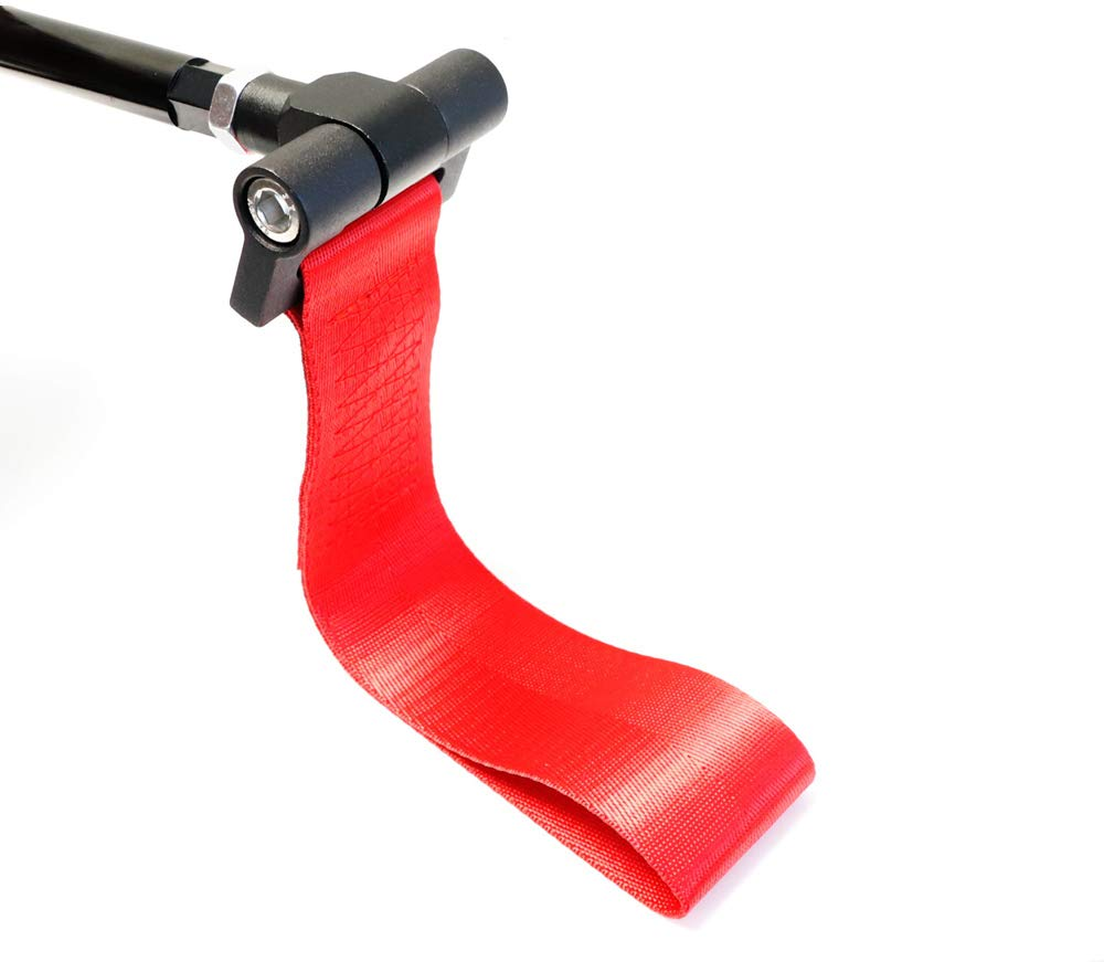 E36 E39 E46 E82 E90 E91 E92 E93 E70 E71 R50 R51 R52 R53 R55 R56 R57 R58 R59 iJDMTOY Track Racing Style Red Towing Strap for BMW 1 3 5 Series X5 X6 /& Mini Cooper Tow Hole Adapter Mounted Nylon Loop