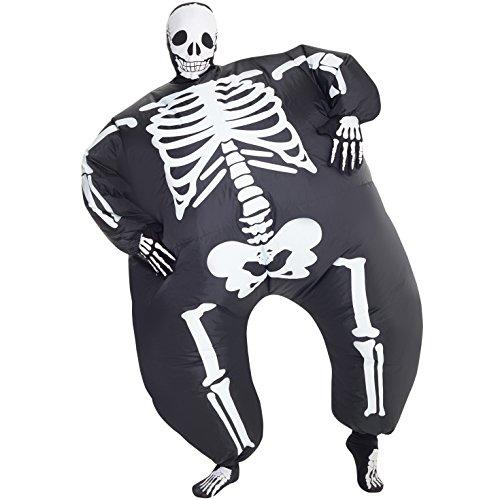 MegaMorph Skeleton Inflatable Blow Up Fancy Dress Costume -
