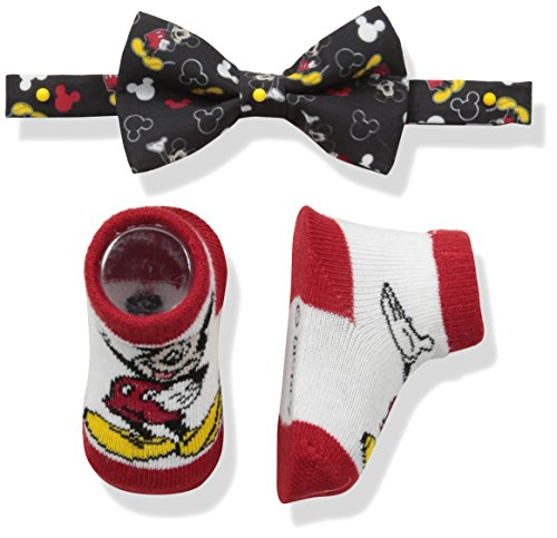 Multi Bowties - Disney Baby Boy's Mickey Mouse Bowtie & Sock Set Accessory, Black Bowtie and Socks, 0-12M