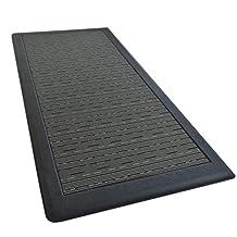 "iCustomRug Ergonomic Anti Fatigue Mat, for Comfortable Standing in Kitchen, Bathroom, Workstation Memory Foam Mat in BLACK 39""×20""×0.75"" (L×W×H)"