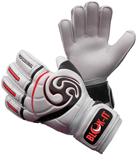 Goalkeeper Gloves By Blok-IT Goalie Gloves to Help You Make the Toughest Saves-Secure and Comfortable Fit With Extra Padding to Reduce the Chance of Injury (Red,Size 6 = Youth -M)