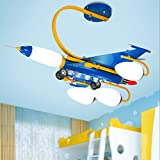 Creative Children's Room Ceiling Lamps, Blue Boys And Girls Airplane Lights, LED Bedroom Cartoon Lights