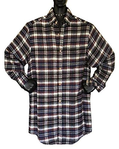 Bay Flannel Shirt - CottonWorks Falcon Bay Big and Tall Soft Flannel Shirts (5XLT, Navy Oatmeal Combo)