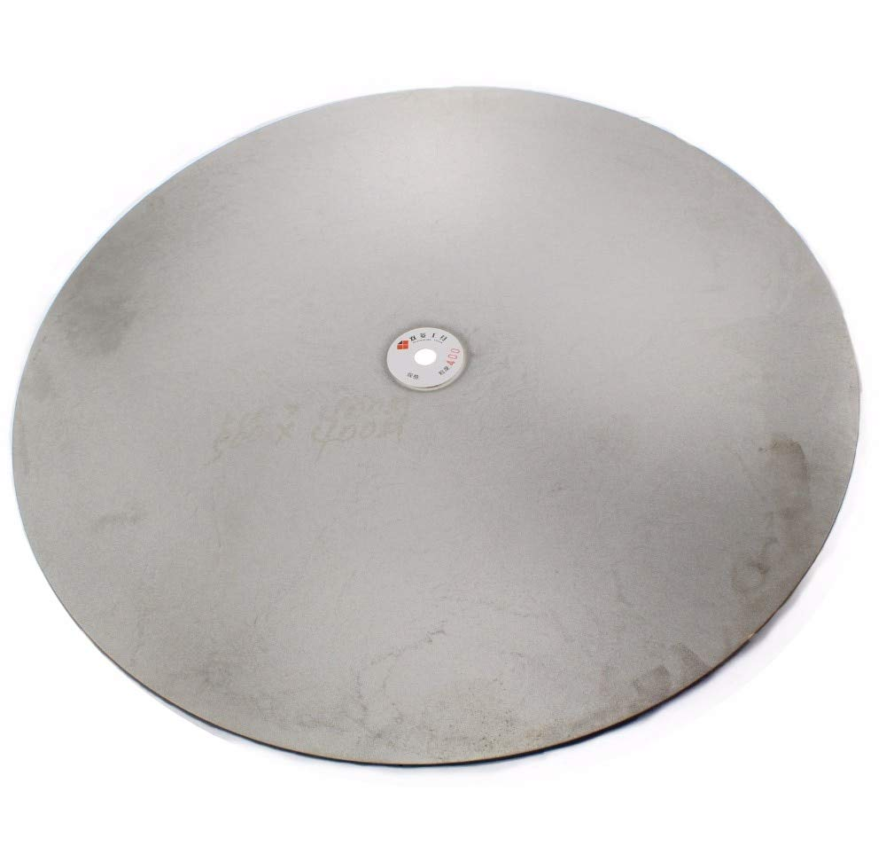 Maslin 20'' inch 500mm Grit 60-800 Coarse Diamond Grinding Disc Abrasive Wheels Coated Flat Lap Disk Lapidary Jewelry Tools for Stone - (Grit: 320 Medium)