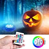 SIBOTER Waterproof Decorative Lights Battery Operated Submersible LED Light Colorful Vase,Bathtub, Halloween, Party, Wedding Underwater for Pool Pond Floating