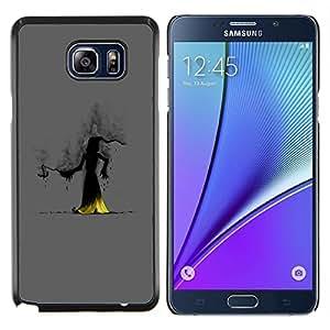 """Be-Star Único Patrón Plástico Duro Fundas Cover Cubre Hard Case Cover Para Samsung Galaxy Note5 / N920 ( Wizzard Bruja Smoke Hood Fairytale historia de la historieta"""" )"""