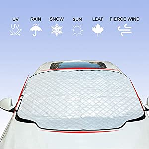 YANX Car Windshield Snow Cover, Car Snow Cover Frost Windshield Cover Magnetic Edges Snow, Ice, Frost Guard No More Scraping (SC01)