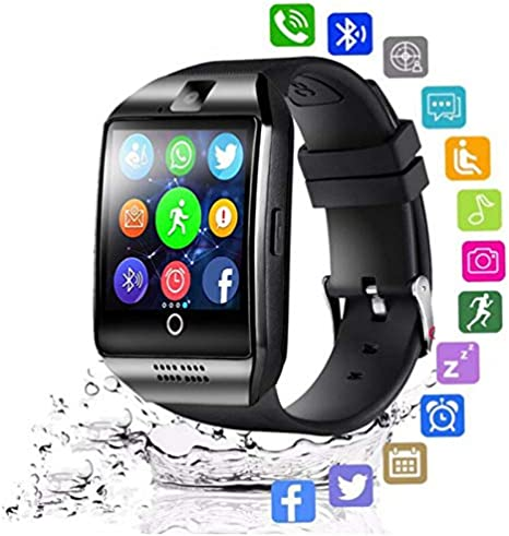 Amazon.com: XINHUANG Bluetooth Smart Watch Men Q18 with ...