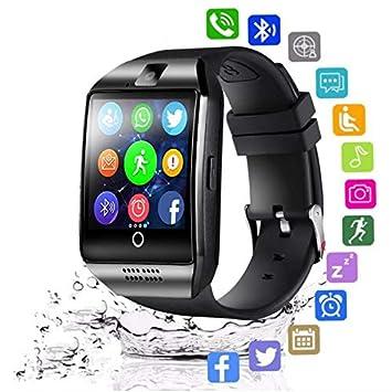 XINHUANG Reloj Inteligente Bluetooth for Hombres Q18 con cámara ...