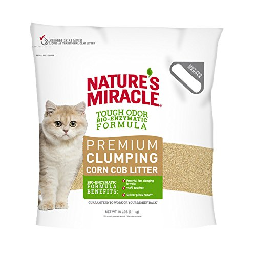 Nature's Miracle Odor Control Corn Cob Clumping Cat Litter, 18 lbs (5318) - Corn Cob Litter