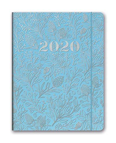 2020 Old Vine - Orange Circle Studio 2020 Just Right Monthly Planner, August 2019 - December 2020, Floral Vines Slate Blue