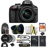 Great Value Bundle for D3400 DSLR – 18-55mm AF-P + 16GB Memory + Wide Angle + Telephoto Lens + Backpack