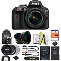 Great Value Bundle for D3400 DSLR – 18-55mm AF-P + 16GB Memory + Wide Angle + Telephoto Lens + Backpack