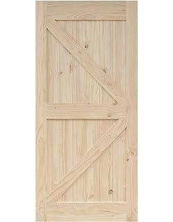 DIYHD 36 In84 In Pine Knotty Sliding Barn Wood Door Slab Two Side Arrow  Shape