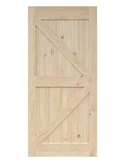 Amazon 38 In84 In Pine Knotty Sliding Barn Wood Door Slab Two