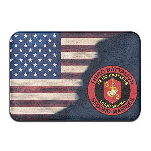 (Ynghbgh Mats 3rd Battalion 2nd Marine Regiment US Mariners Corps Doormats Bathroom Rugs for Indoor Outerdoor Bathroom)
