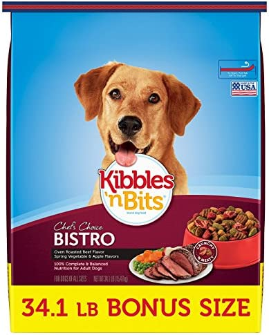 best grocery store dog food 2017 kibbles n bits bistro oven roasted beef flavor bonus bag dry dog food 341 lb best cheap food for the money top picks of 2018