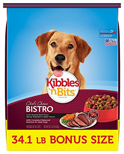 Kibbles 'n Bits Bistro Oven Roasted Beef Flavor Bonus Bag Dry Dog Food, 34.1 ()