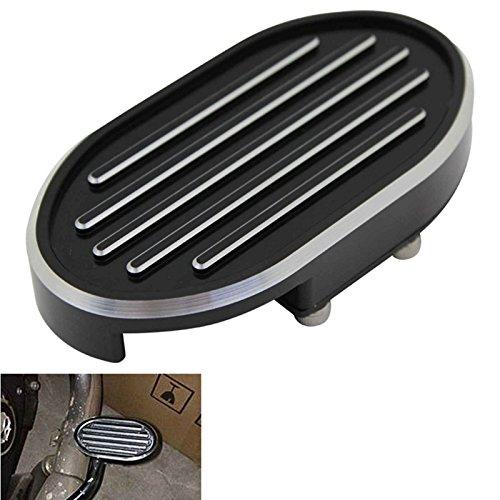 Billet Products Brake Pedal (Special Cut Gril CNC Billet Brake Pedal Pad Cover For Harley Dyna Wide Glide V-Rod Sportster XL 883 1200)