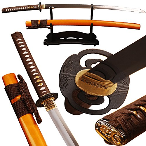 Shijian Samurai Swords Clay Tempered by 1095 Carbon Steel Folded 15 Times Folded Steel Sword
