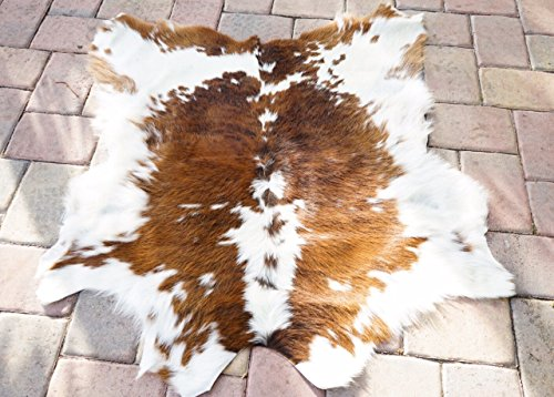 Cream Caramel Hairy Cowhide Skin Rug