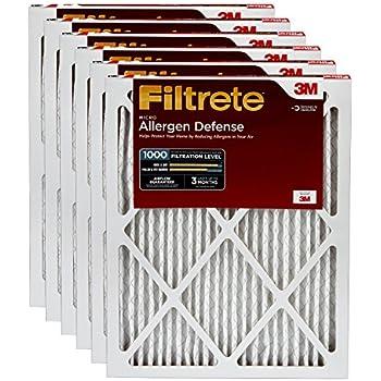 Filtrete AD01-6PK-1E Air Filter, 16 x 25 x 1, White, 6