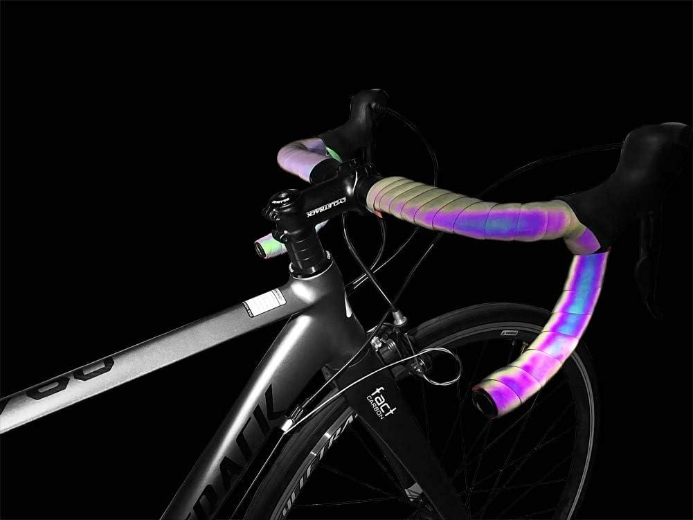 CXWXC - Cinta reflectante para manillar de bicicleta, 2 unidades ...