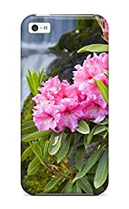 New Arrival Iphone 5c Case Spring Flowers And Waterfall Nature Flower Case Cover