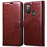 Pikkme Samsung Galaxy M30s Flip Case | High Quality Leather Finish | Inside TPU with Card Pockets | Wallet Stand And Shock Proof | Magnetic Closing | 360 Degree Complete Protection Flip Cover for Samsung Galaxy M30s
