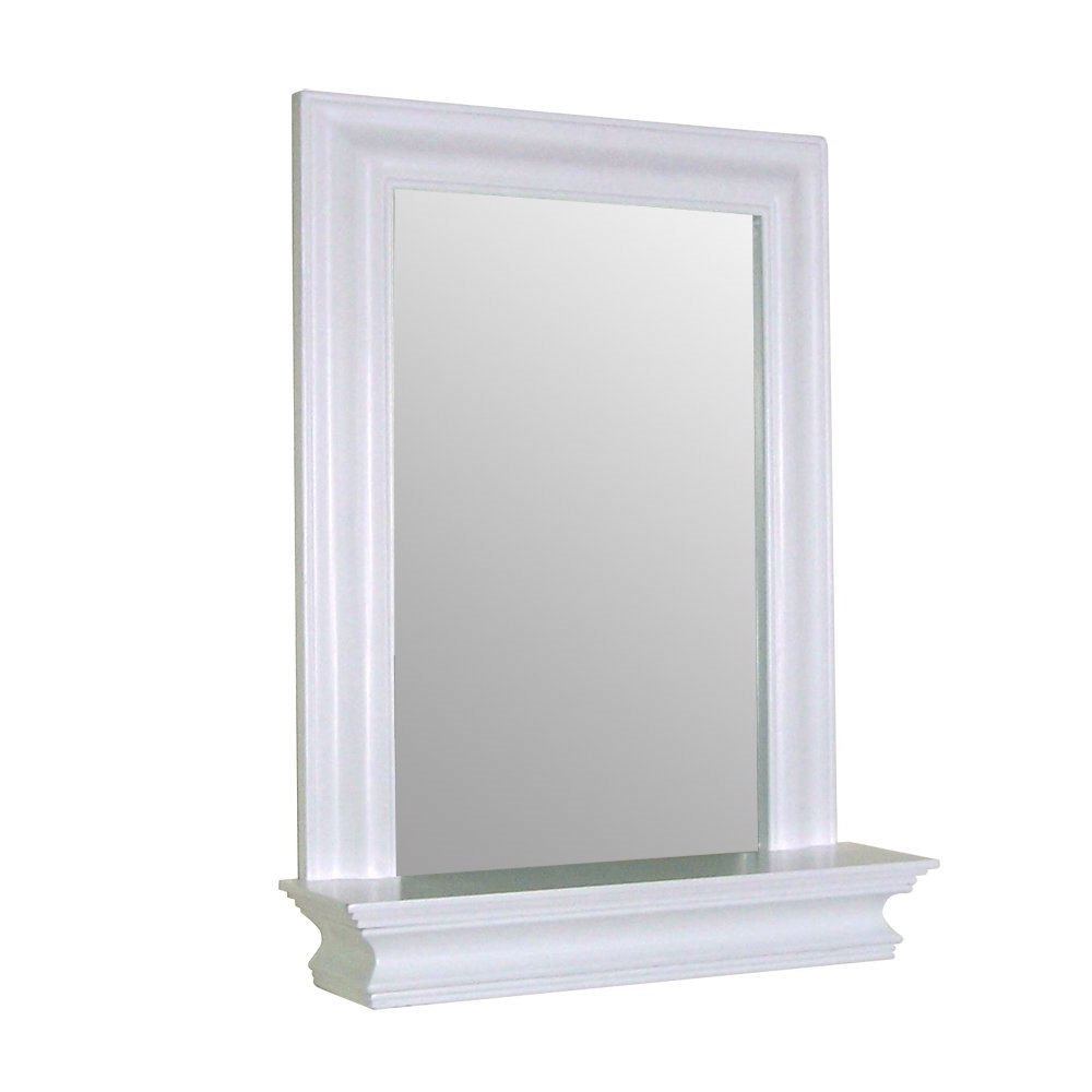 Amazon.com: Framed Bathroom Mirror Rectangular Shape with Bottom ...