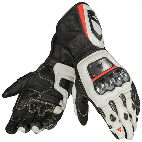 DAINESE Full Metal D1 Gloves (S, Black/White/Fluorescent-Red)
