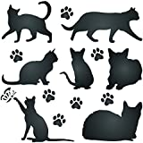 Cat Silhouette Stencil - 8.5 x 8.5 inch (L) - Reusable Pet Friend Animal Wall Stencil Template - Use on Paper Projects Scrapbook Bullet Journal Walls Floors Fabric Furniture Glass Wood etc.