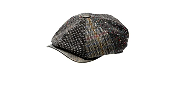 af75805ace2 Wigens Gustav 8 4 Limited Edition Patchwork With a Leather Peak Ivy Cap  (58