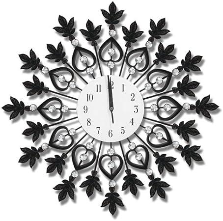 859894 Orologio Da Parete Con Cristalli Swarovski Elegante Salone Decorazione Amazon It Casa E Cucina