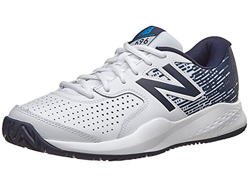 New Balance Men's MC696v3 Tennis Shoe, White/Blue, 10 D US