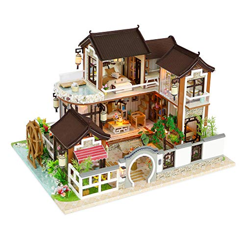 Used, Kisoy Miniature DIY Dollhouse Kit with Furniture Accessories for sale  Delivered anywhere in USA