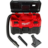 Milwaukee M18 2 Gal. 18-Volt Lithium-ion Cordless Wet/Dry Vacuum (Tool-Only), 2.8 Amp Motor, Lightweight, Tool-Box Style for Effortless Transport and Storage