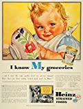 1936 Ad Heinz Baby Strained Foods Bowl Soft-diet Infant Eating Vegetable Soup - Original Print Ad
