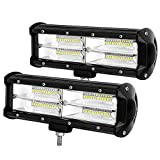 9' LED Light Bar 288W Led Pod Lights Offroad Fog Driving Lights for Trucks Pickup Jeep SUV ATV UTV, 2 years Warranty