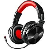 Bluetooth Bass Headphones, OneOdio 30 Hrs Play Time Stereo Wireless Headset with Detachable Mic, Office Foldable Headsets with 50mm Neodymium Drivers for PC, TV, Cell Phones