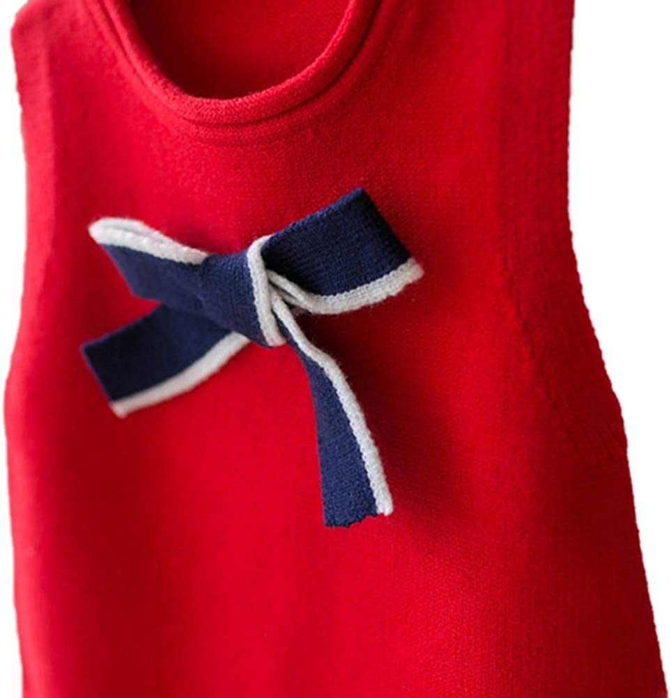 URMAGIC Baby Girls Clothes Gifts Kids Sleeveless Jumper Toddler Infant Girls Warm Knitted Vest Pullover Tank Top 6M-4Y