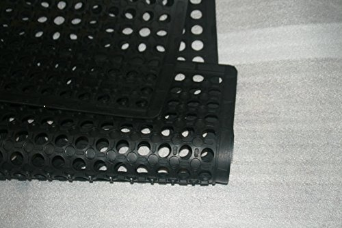 Rhino Mats KCT-3660B K-Series Comfort Tract Anti-fatigue Drain-thru Mat, 3' x 5', Black by Rhino Mats (Image #5)