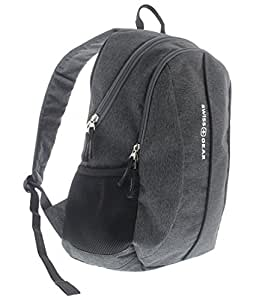 Swiss Gear SA1061 Laptop Computer Tablet Notebook Backpack - for School, Travel, Carry On Luggage, Women, Men, Student, Professional Use - Heather Grey, 19 Inches