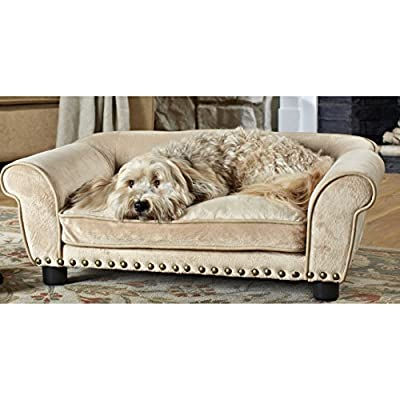 Enchanted Home Pet Dreamcatcher Dog Sofa, 32.5 by 21 by 12-Inch, Caramel
