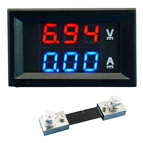 ADSRO Dual LED DC Digital Display Ammeter Voltmeter LCD Panel Amp Volt 100A 100V