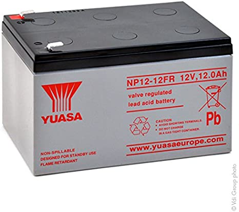 Yuasa - Batería Plomo AGM NP12-12FR 12V 12Ah F6.35: Amazon.es: Electrónica