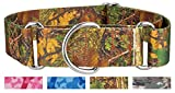 Country Brook Design 1 1/2 Inch Southern Forest Camo Martingale Dog Collar - Extra Large