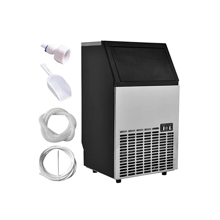 Costzon Ice Machine Built In Stainless Steel Commercial