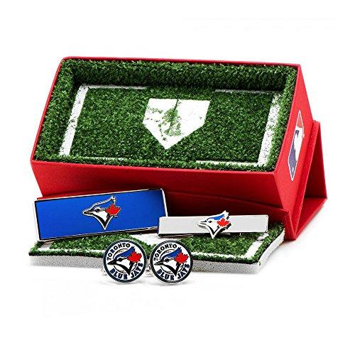 Toronto Blue Jays 3-Piece Gift Set (Toronto Blue Jays Cufflinks)
